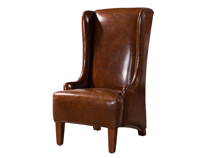 Wing Back Chair; Vintage High ...