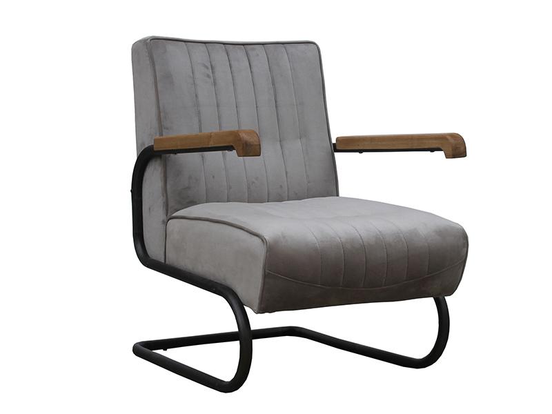 Terrific Metal Base Wood Arm Rustic Retro Leather Chair Dailytribune Chair Design For Home Dailytribuneorg