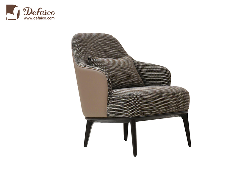 Luxury Armchair, Modern Accent Lounge, Solid Wood Leg ...