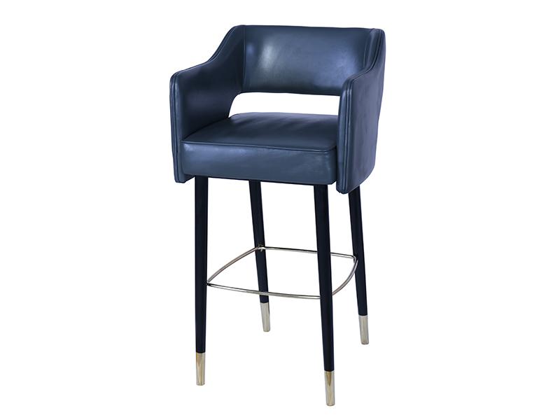 Sensational Metal Foot Rest Glossy Wood Legs Luxury Modern Leather Lamtechconsult Wood Chair Design Ideas Lamtechconsultcom