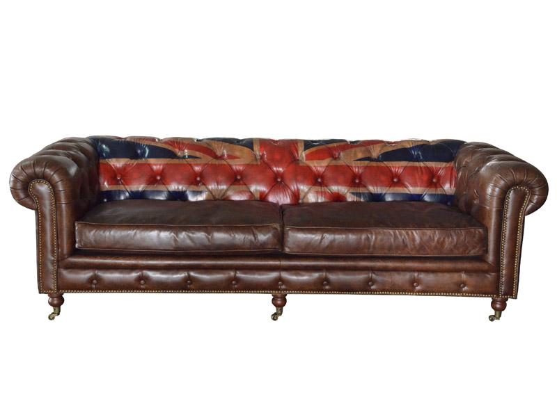 4s Union Jack Chesterfield Sofa With Wheels