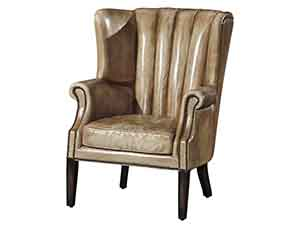 High Back Wing Antique Leather Sofa Chair ...