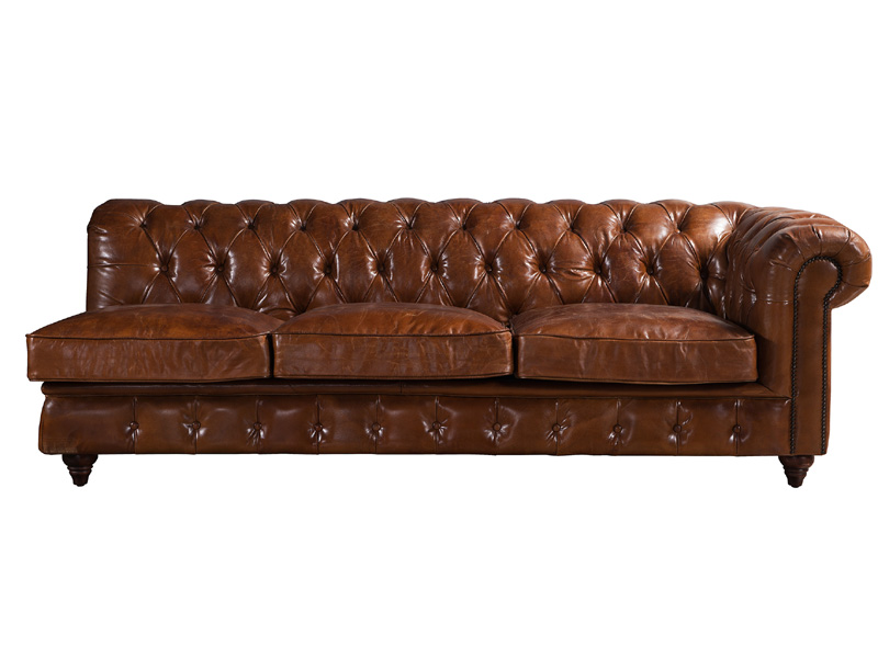 Fantastic Vintage Leather Chesterfield Sectional Sofa Set Download Free Architecture Designs Scobabritishbridgeorg