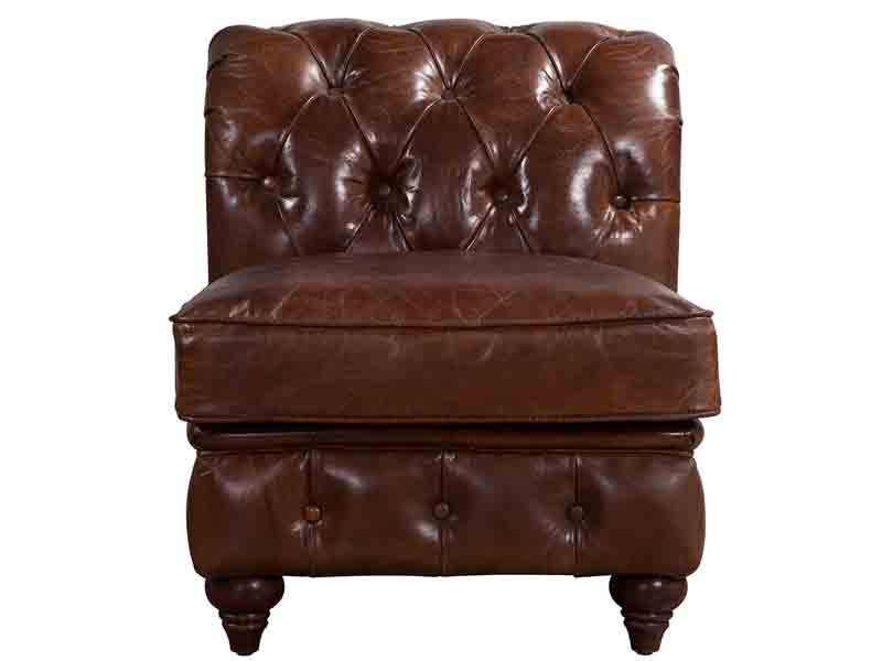 ... Vintage Leather Chesterfield Sectional Sofa Set ...