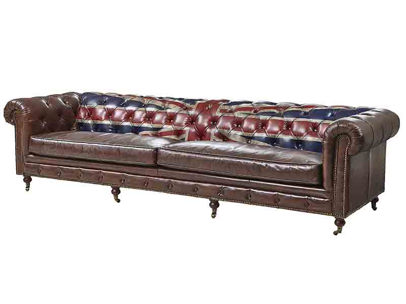Union Jack Back Chesterfield Sofa