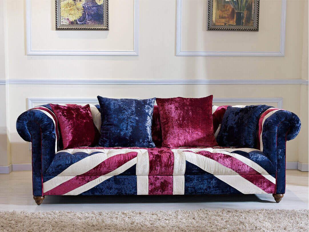 ... Union Jack Fabric Sofa ...