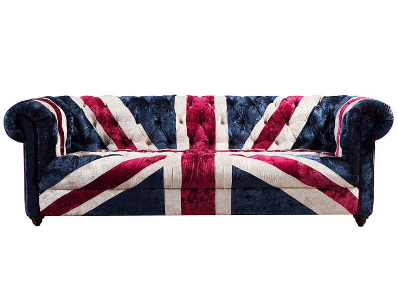 Union Jack Fabric Sofa ...
