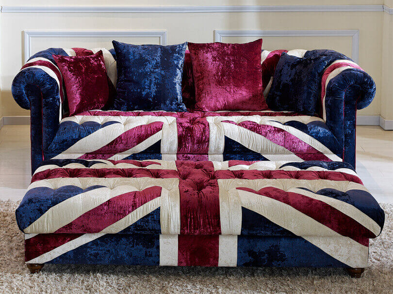 Union Jack Fabric Sofa Vintage Fabric Sofa Union Jack