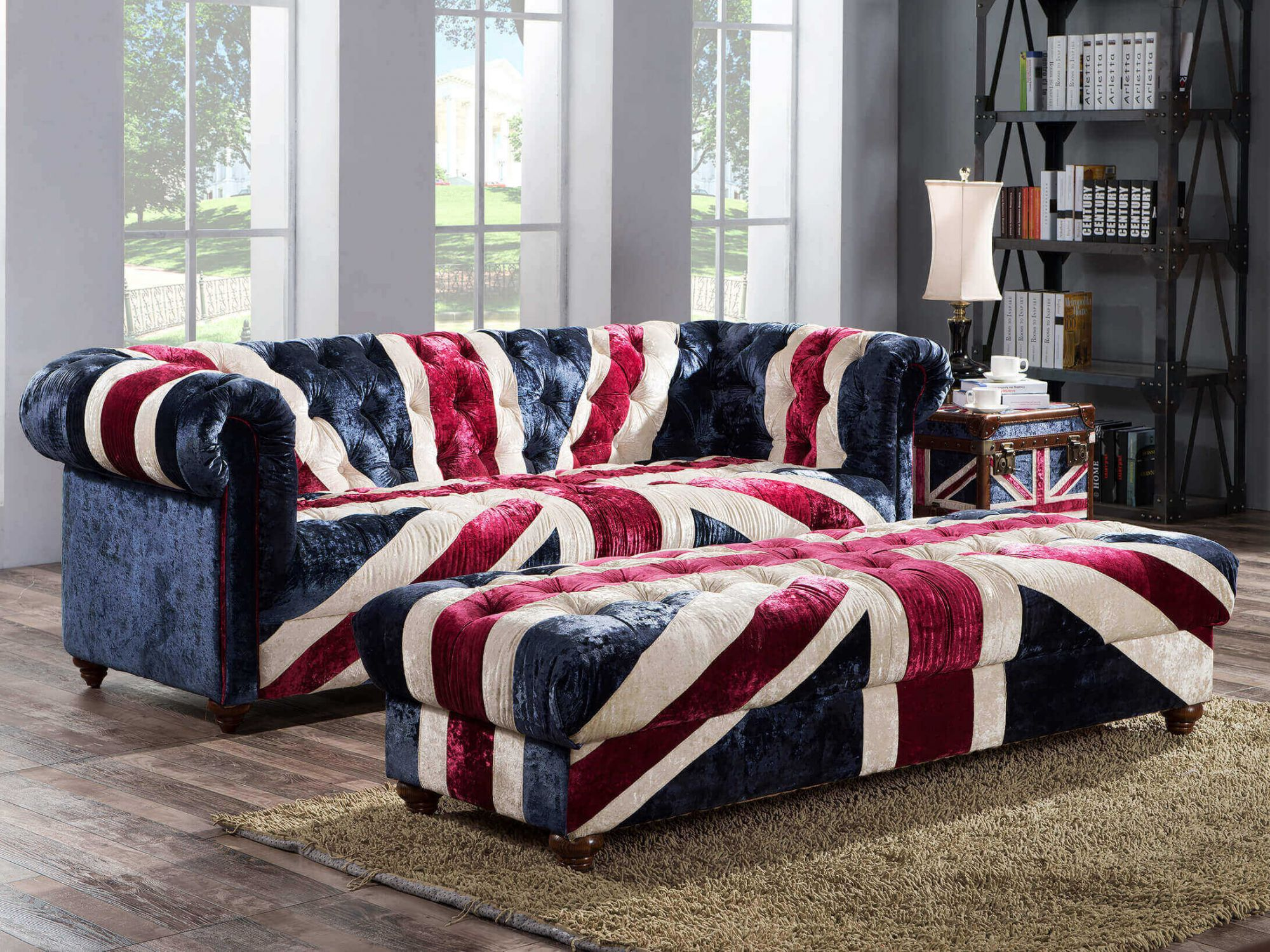... Union Jack Fabric Sofa