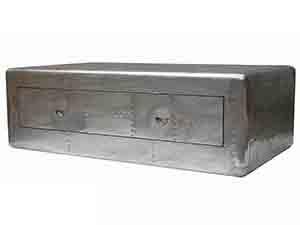 Vintage Riveted Aluminium Trunk Coffee Table ...