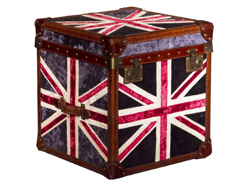 Captivating Vintage Fabric Union Jack Cube Trunk Good Ideas